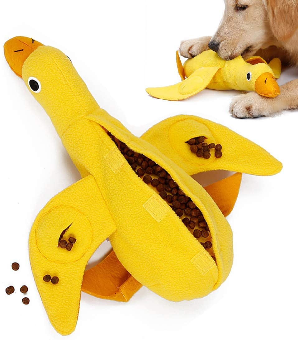 Dog Food Dispensing Puzzle Duck Toy