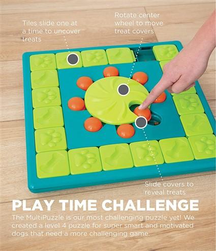 Outward Hound Nina Ottosson MultiPuzzle Interactive Treat Puzzle Dog Toy