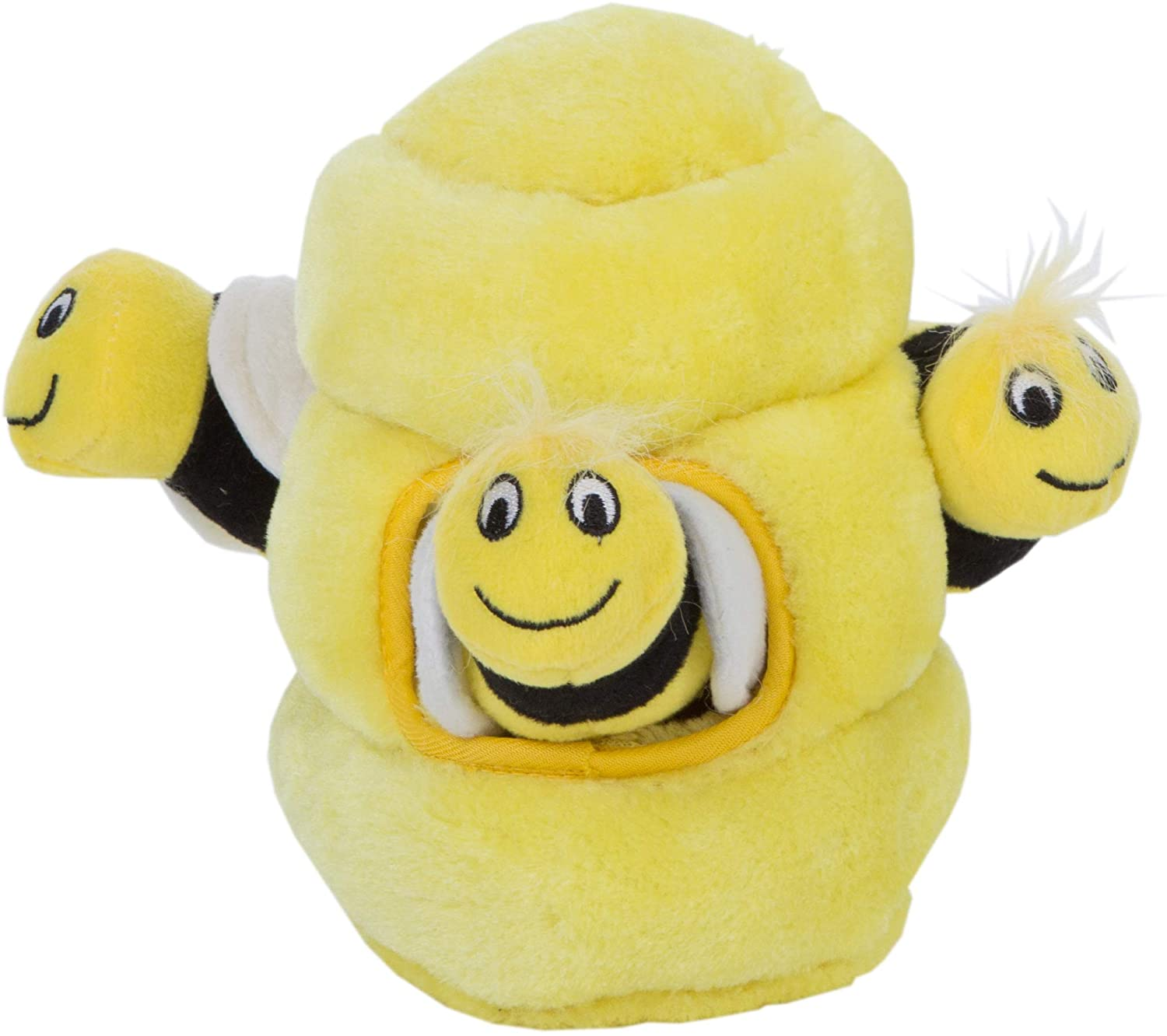 Outward Hound's mentally stimulating Hide a Bee dog puzzle toy