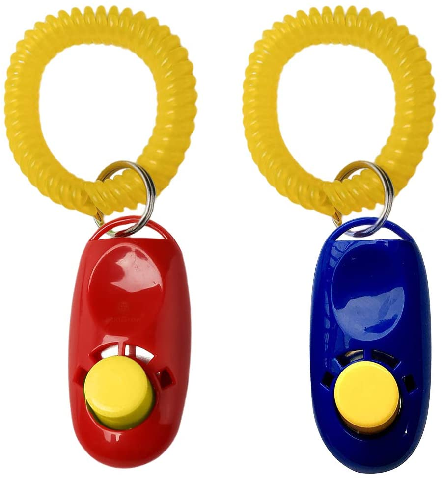 red and blue clickers for clicker training
