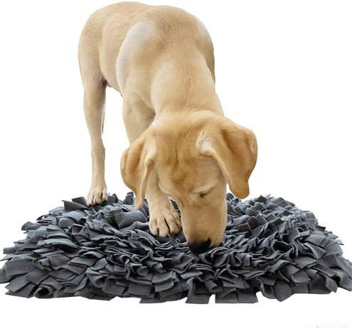 snuffle mat food dispensing toy for dogs