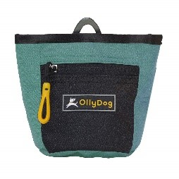 OllyDog green treat pack with magnetic close and zip pocket for training