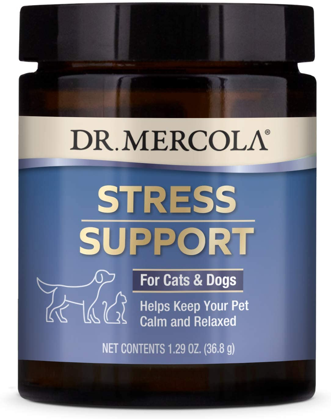dr. Mercola Stress Support with Adaptogens for dogs including ashwagandha