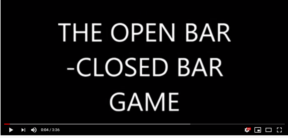The open bar closed bar counterconditioning game by Jean Donaldson