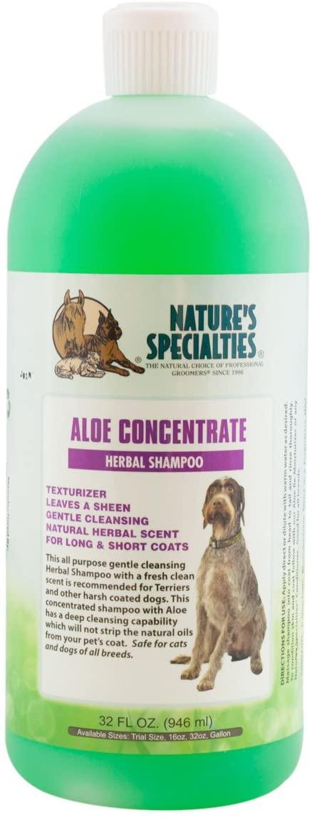Aloe shampoo that is gentle for dog's skin
