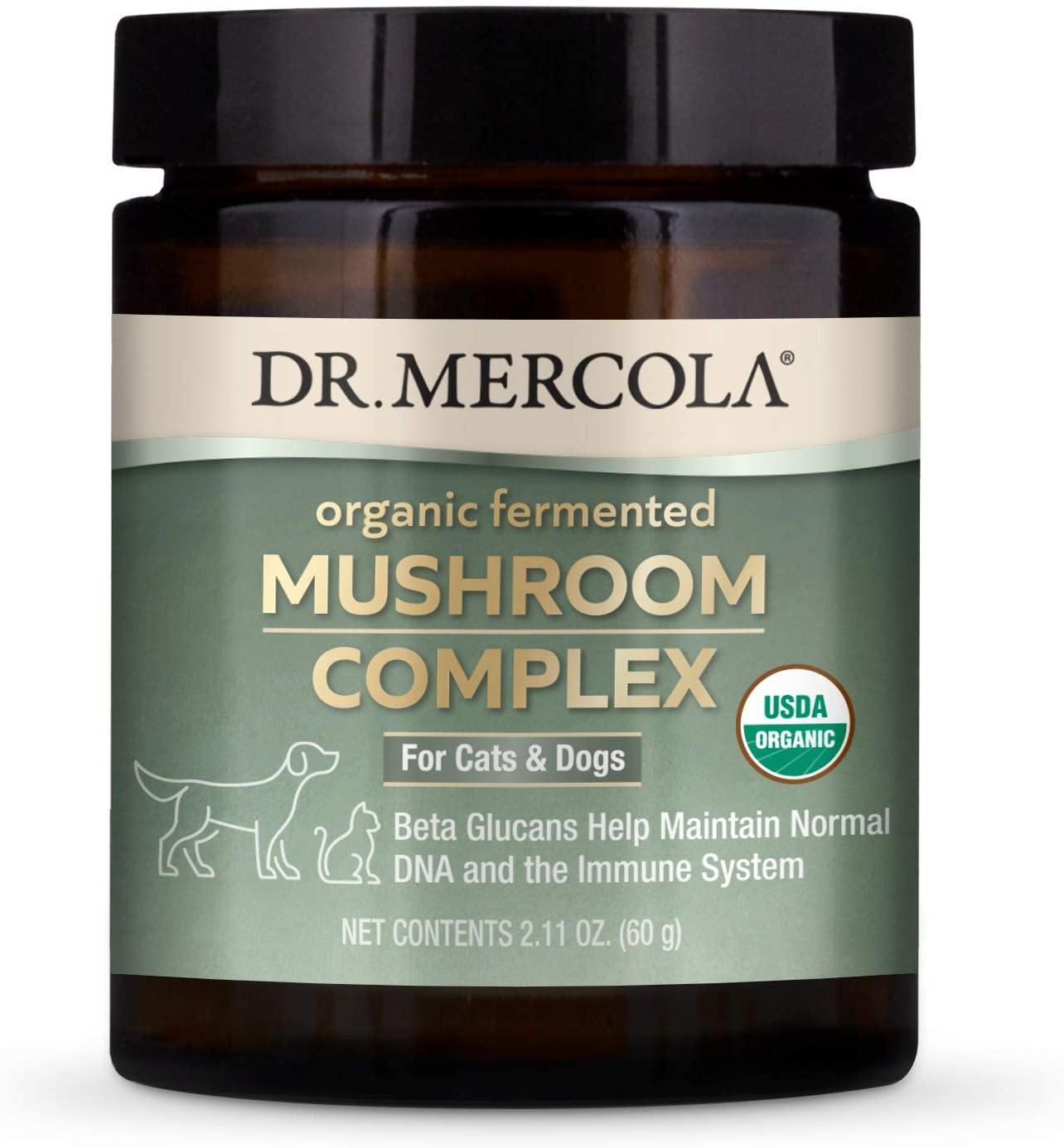 Fermented mushroom complex immune booster for dogs