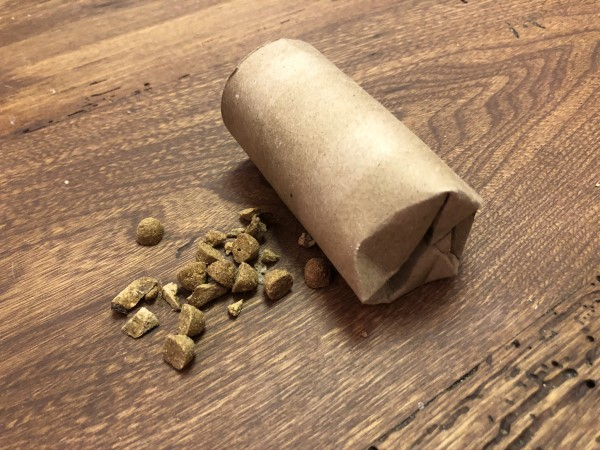 Toilet paper tube enrichment toys for dogs