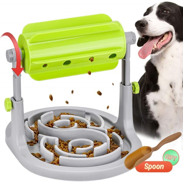 spinning puzzle food toy for dogs