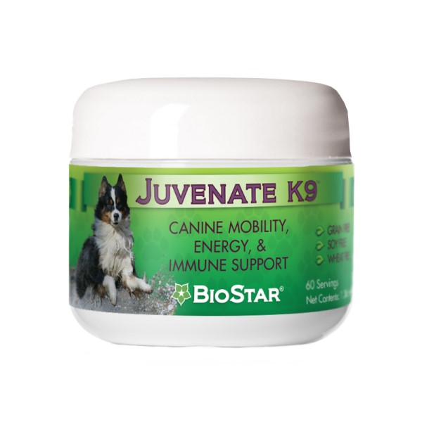 Biostar Juvinate K9 joint and immune support for arthritis in dogs