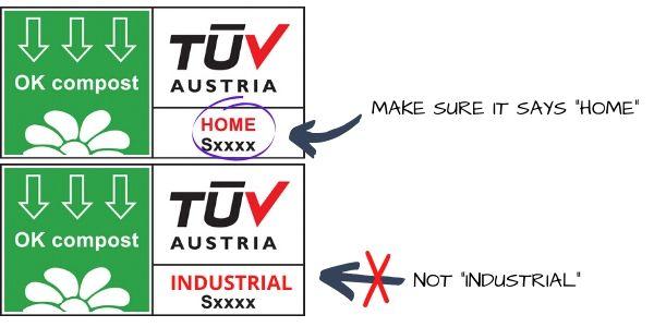 TUV Austria certification label examples