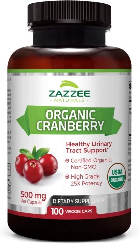 cranberry extract pill bottle for dog  UTI treatment