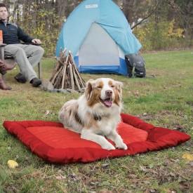 kurgo loft waterproof bed with dog lying on it