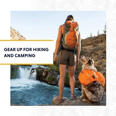 Ruffwear Approach dog hiking pack harness on dog