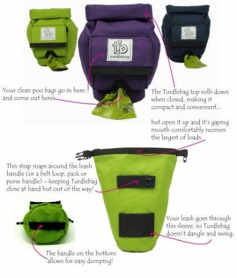 Pictures of the Turdlebag dog poop disposal bag up close
