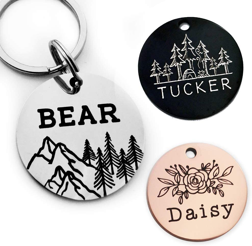 Cool ID tags for camping with dogs