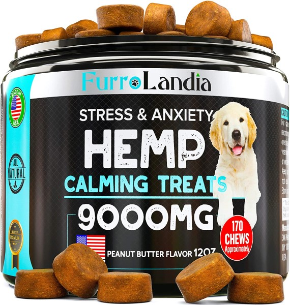 FurroLandia Calming Treats for dog storm anxiety