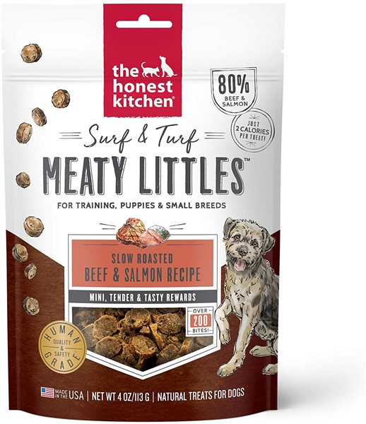 honest kitchen beef & salmon healthy dog treats