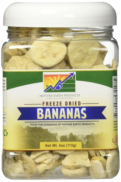 mother earth freeze dried bananas
