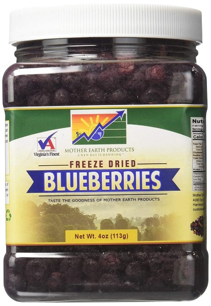 mother earth freeze dried blueberries
