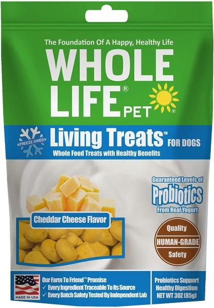 whole life cheddar probiotic healthy dog treats