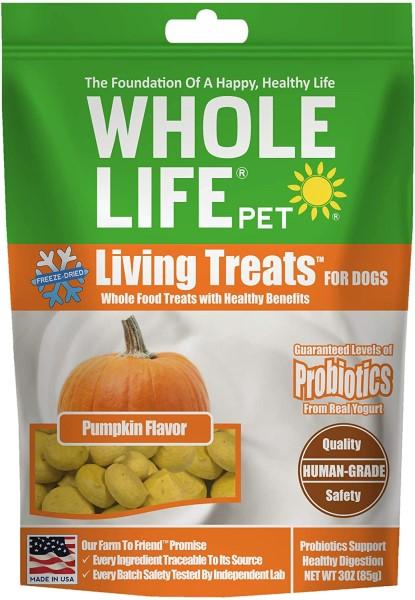 whole life pumpkin probiotic healthy dog treats