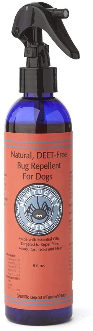 Nantucket cedarwood and geranium oil natural flea and tick repellent for dogs
