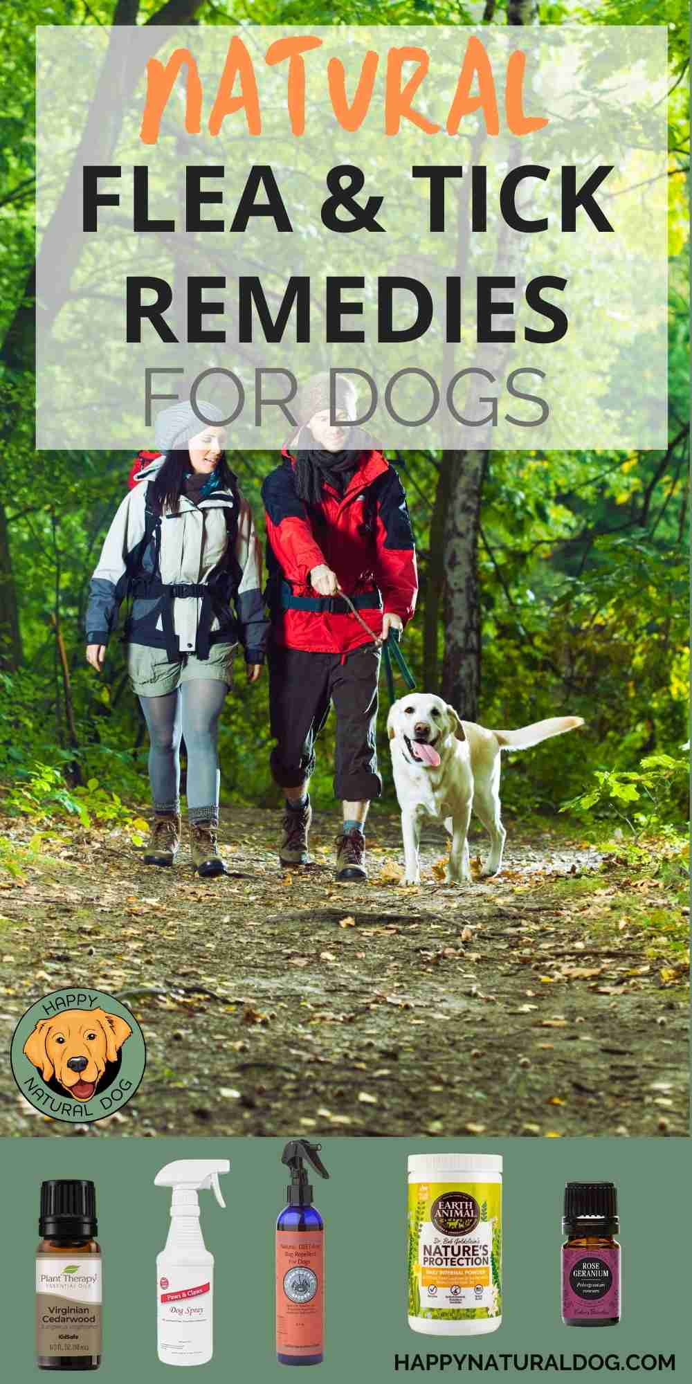 Natural flea and tick repellent for dogs