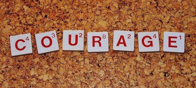 courage scrabble tiles
