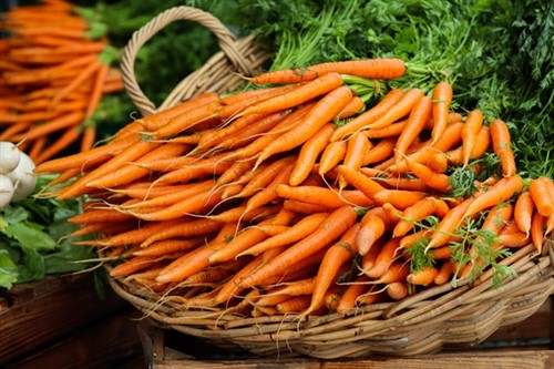 basket of carrots to use for deworming dogs
