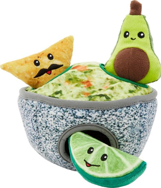 frisco dog gifts hide and seek guacamole toy