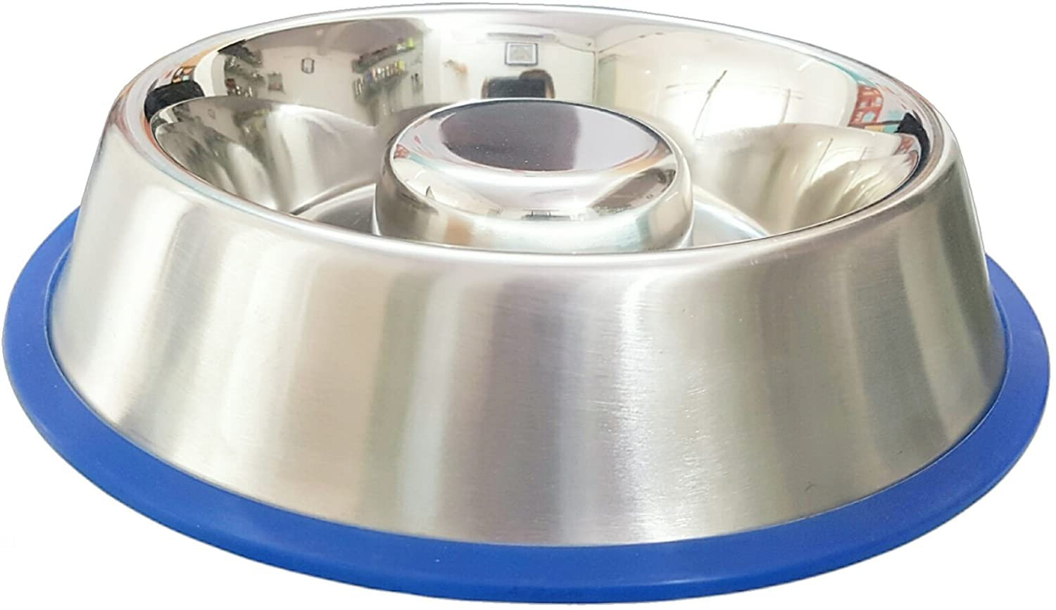 mr peanuts stainless slow feeding bowl for dogs