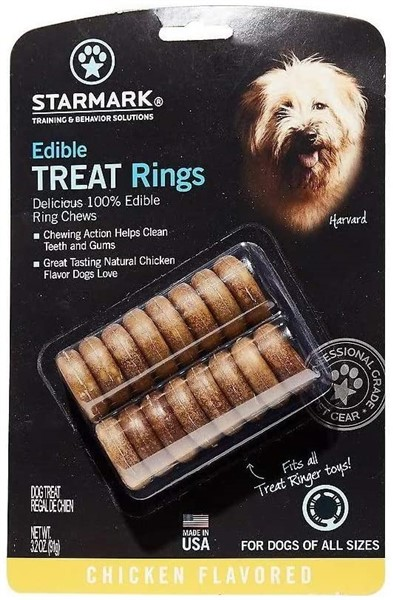 Starmark ring treat refills for dog gifts