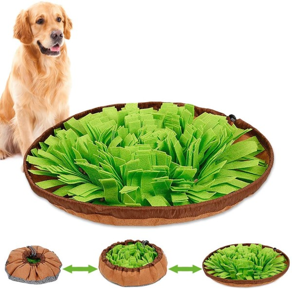 Travel snuffle bowl food puzzle toy for dogs