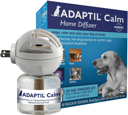 Adaptil dog pheromone diffuser to reliver stress in dogs