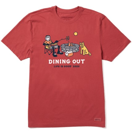Life is good dining out men's tshirt