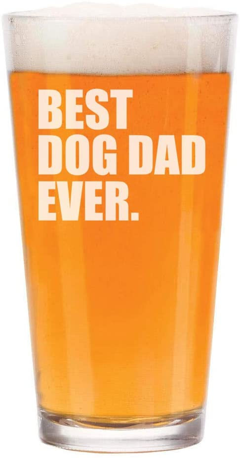 Best Dog Dad Ever Beer Glasss gift for dog owners