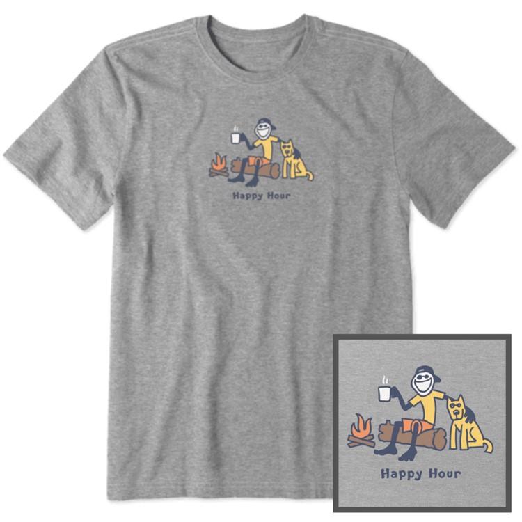 life is good mens happy hour shirt