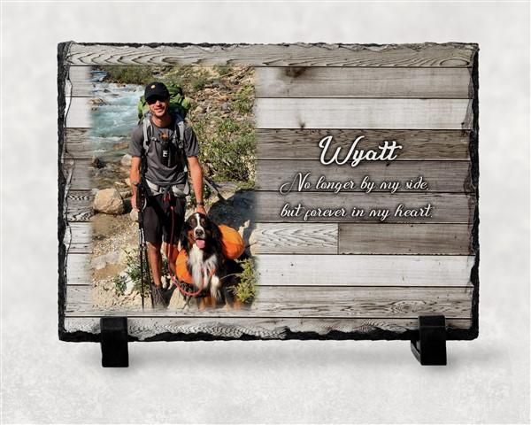 slate memorial picture frame dog lover gift