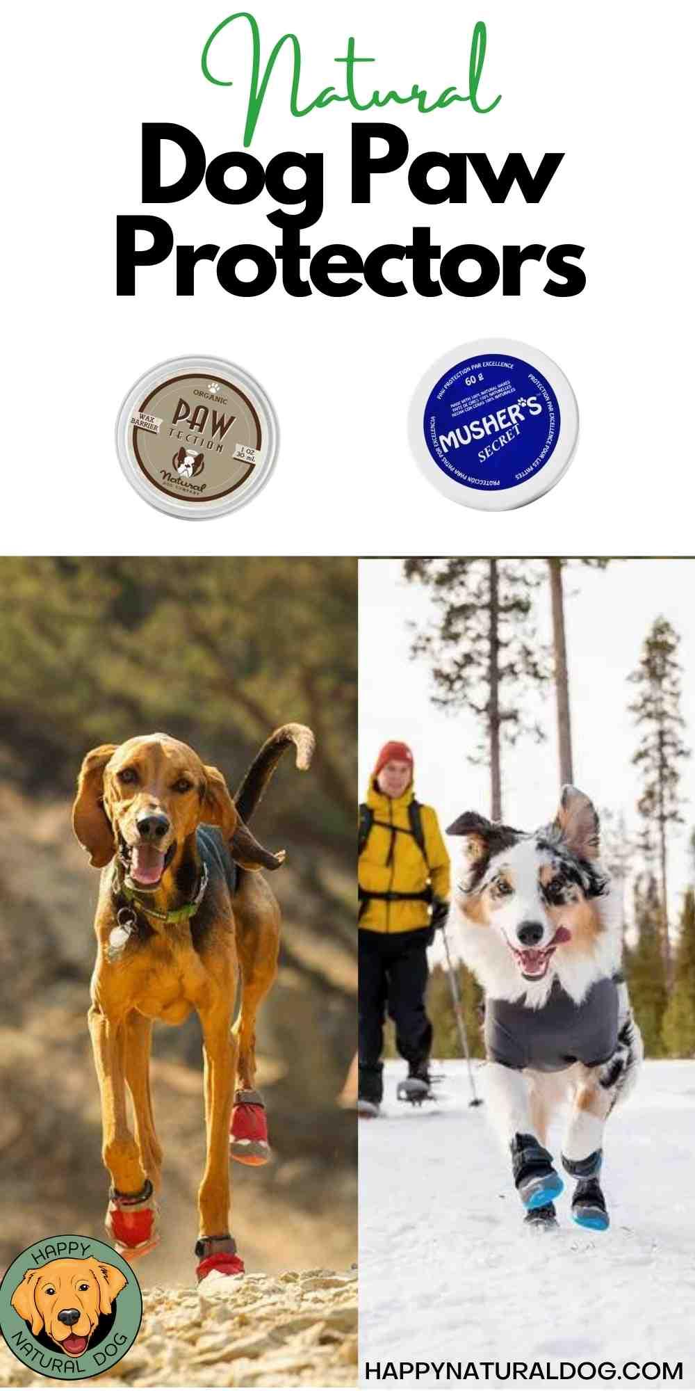 Natural Dog Paw Protectors pin