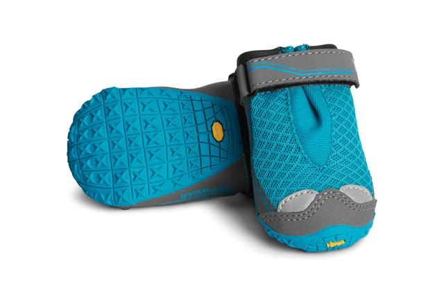 Ruffwear Grip Trex dog boots for hiking paw protection blue