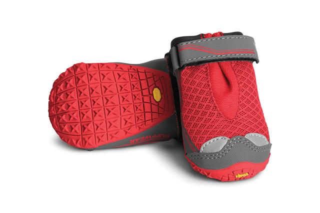 ruffwear grip trex dog boots for summer paw protection red
