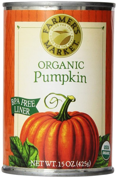 Farmers Market Organic canned pumpkin for dogs