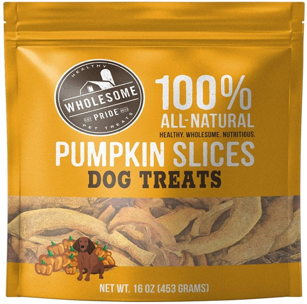 Wholesome pride pumpkin slices pumpkin treats for dogs