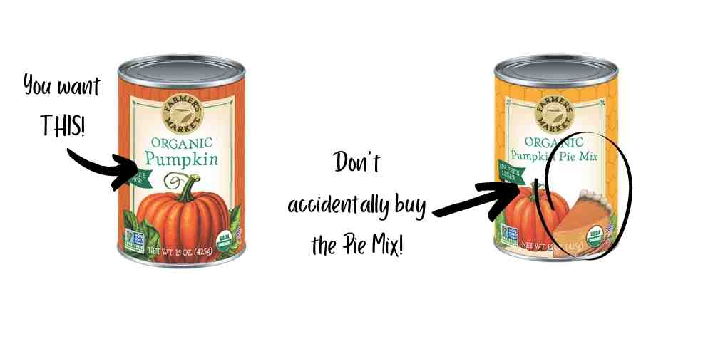 canned pumpkin for dogs vs pumpkin pie mix